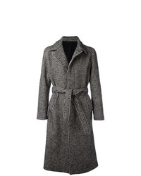Abrigo largo negro de AMI Alexandre Mattiussi