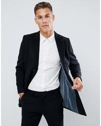Abrigo largo negro de Burton Menswear
