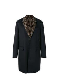 Abrigo largo negro de Fendi