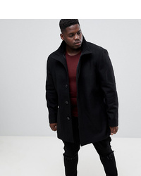 Abrigo largo negro de French Connection