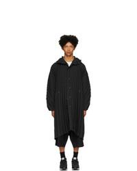 Abrigo largo negro de Homme Plissé Issey Miyake