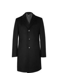 Abrigo largo negro de Hugo Boss