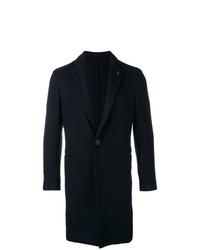 Abrigo largo negro de Lardini