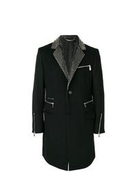 Abrigo largo negro de Philipp Plein