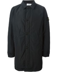 Abrigo largo negro de Stone Island