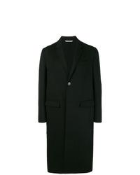 Abrigo largo negro de Valentino