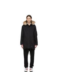 Abrigo largo negro de Wacko Maria