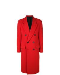Abrigo largo rojo de AMI Alexandre Mattiussi