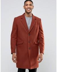 Abrigo largo rojo de Asos
