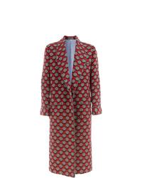 Abrigo largo rojo de Gucci