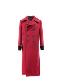 Abrigo largo rojo de Haider Ackermann
