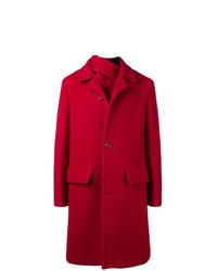 Abrigo largo rojo de Raf Simons