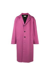 Abrigo largo rosa