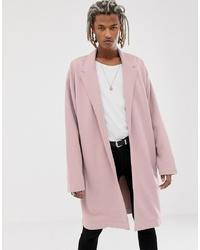 Abrigo largo rosado de ASOS DESIGN