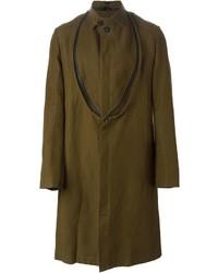Abrigo largo verde oliva de Ann Demeulemeester