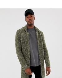 Abrigo largo verde oliva de ASOS DESIGN