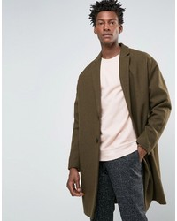 Abrigo largo verde oliva de Asos