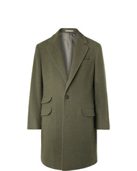 Abrigo largo verde oliva de Brunello Cucinelli