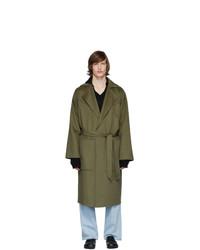 Abrigo largo verde oliva de Nanushka