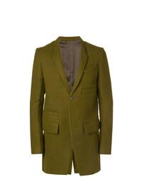 Abrigo largo verde oliva de Rick Owens