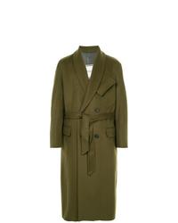 Abrigo largo verde oliva de Wooyoungmi