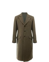 Abrigo largo verde oliva de Yohji Yamamoto