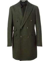 Abrigo largo verde oscuro