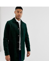 Abrigo largo verde oscuro de ASOS DESIGN
