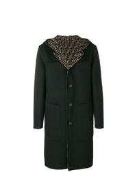 Abrigo largo verde oscuro de Fendi