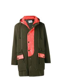 Abrigo largo verde oscuro de Henrik Vibskov