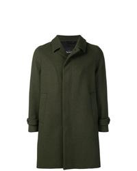 Abrigo largo verde oscuro de Hevo