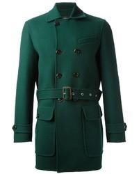 Abrigo largo verde de DSquared