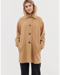Abrigo marrón claro de ASOS DESIGN