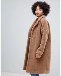 Abrigo marrón claro de Missguided