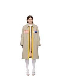Abrigo marrón claro de Miu Miu