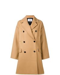 Abrigo marrón claro de MSGM