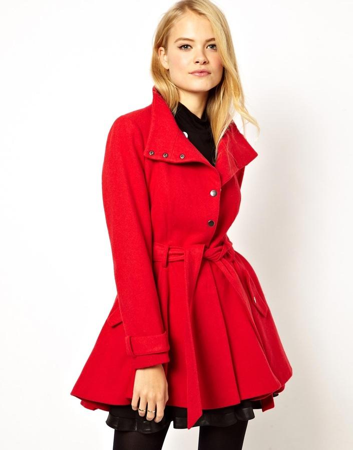 Donde comprar un abrigo rojo