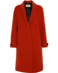 Abrigo rojo de Burberry