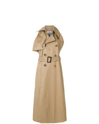 Abrigo sin mangas marrón claro de Facetasm