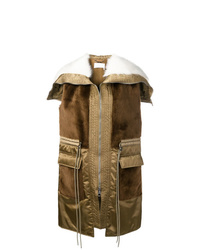 Abrigo sin mangas marrón de Chloé