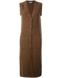 Abrigo sin mangas marrón de P.A.R.O.S.H.