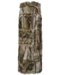 Abrigo sin mangas marrón de Stella McCartney