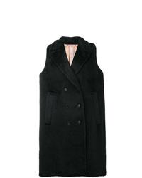Abrigo sin mangas negro de N°21