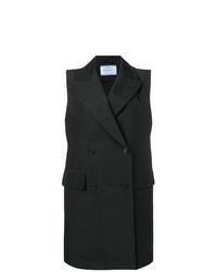 Abrigo sin mangas negro de Prada