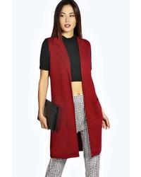 Abrigo sin mangas rojo