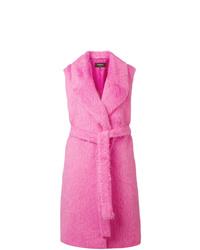 Abrigo sin mangas rosa