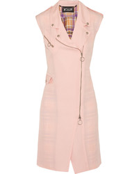 Abrigo sin mangas rosado