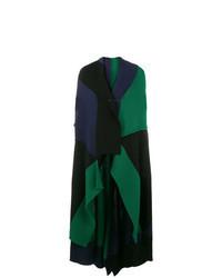 Abrigo sin mangas verde oscuro