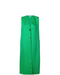 Abrigo sin mangas verde de Jil Sander