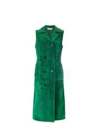 Abrigo sin mangas verde de Marni
